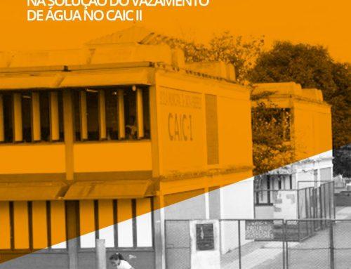 Vazamento no prédio da Escola Municipal Professora Helena Reis (Caic II)
