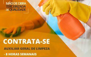 Vaga para auxiliar de limpeza na cidade de Guapé/MG