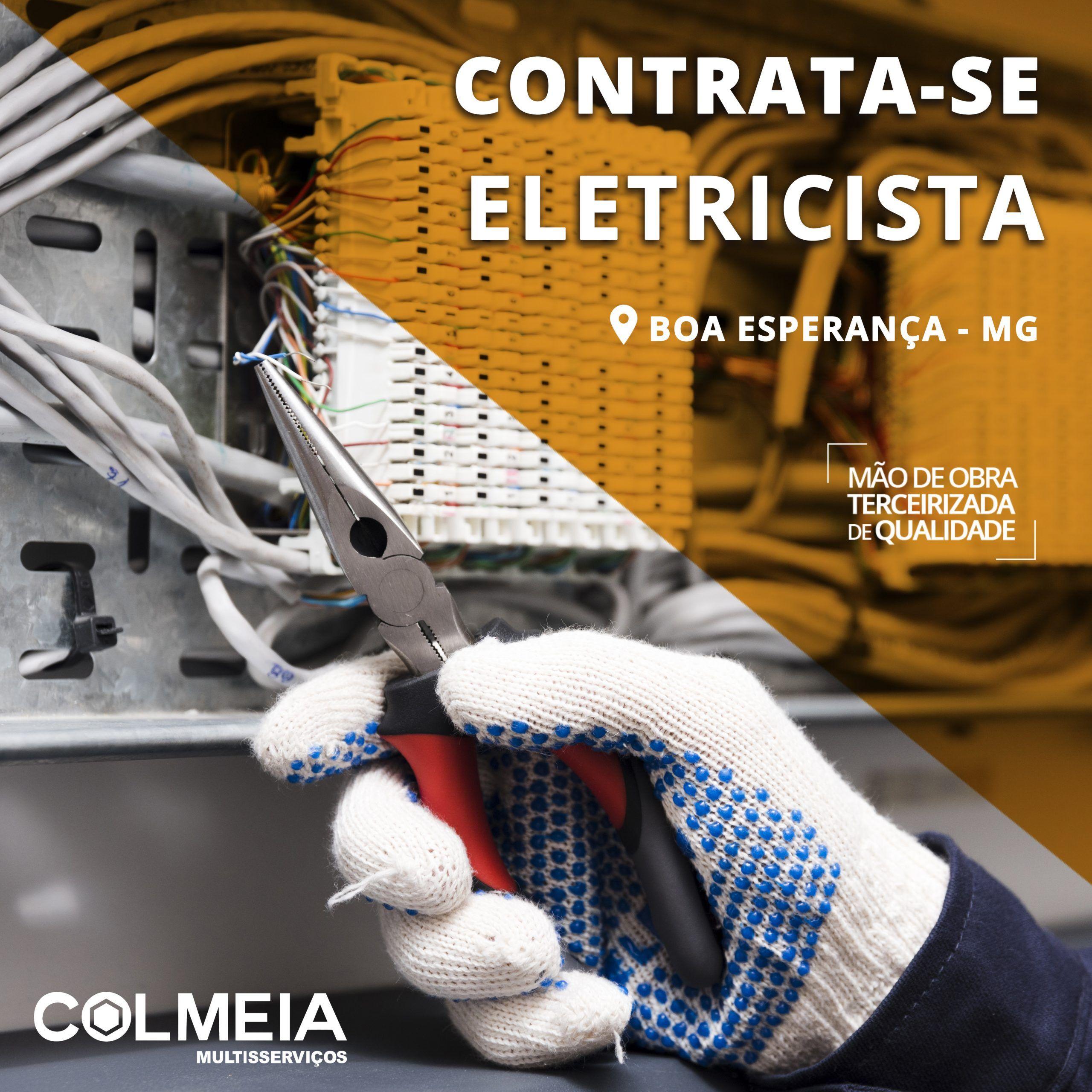 Trabalhe Conosco - ELETRICISTA – Boa Esperança/MG