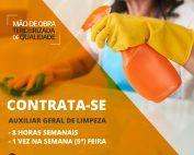 Auxiliar Geral de limpeza - Aiuruoca/MG